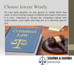 choose lawyer wisely