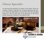 choose specialist