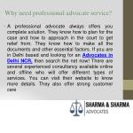 why need professional advocate service