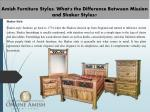 amish furniture styles what s the difference between mission and shaker styles 1