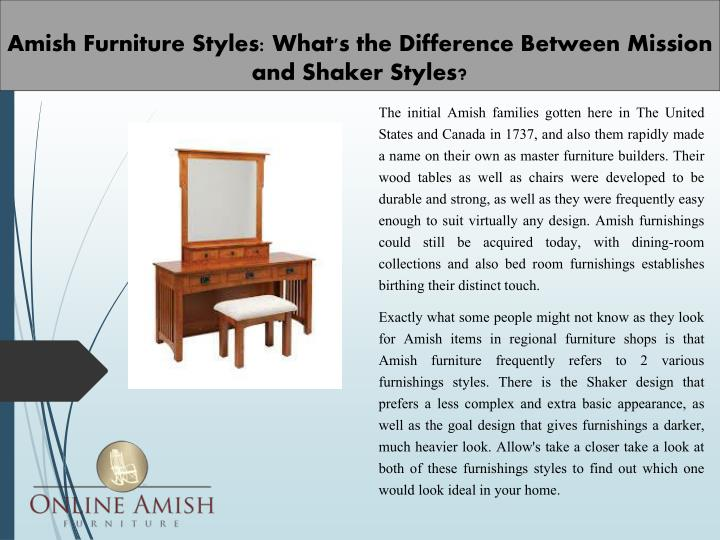 amish furniture styles what s the difference between mission and shaker styles n.
