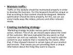 maintain traffic traffic on the website should
