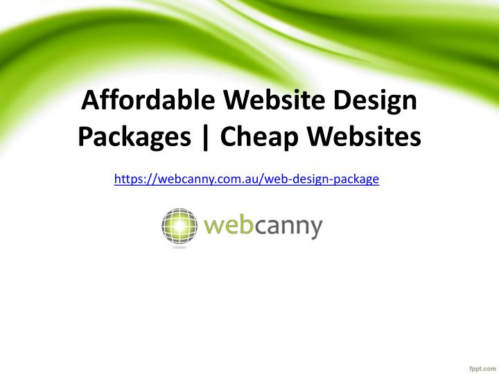 affordable website design packages cheap websites n.