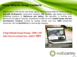 cheap website design canberra
