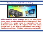 best france dedicated server hosting