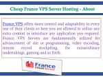 france vps offers more control and adaptability