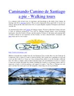caminando camino de santiago a pie walking tours