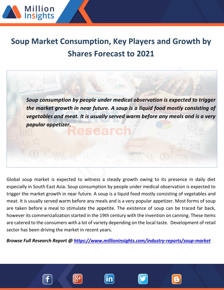soup market consumption key players and growth n.