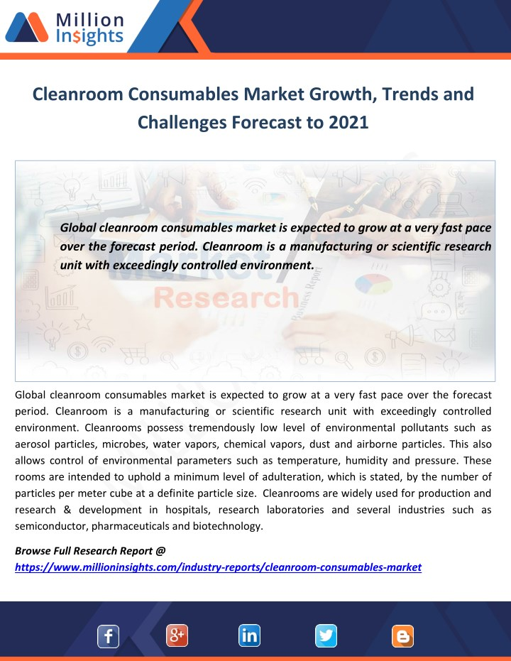 cleanroom consumables market growth trends n.