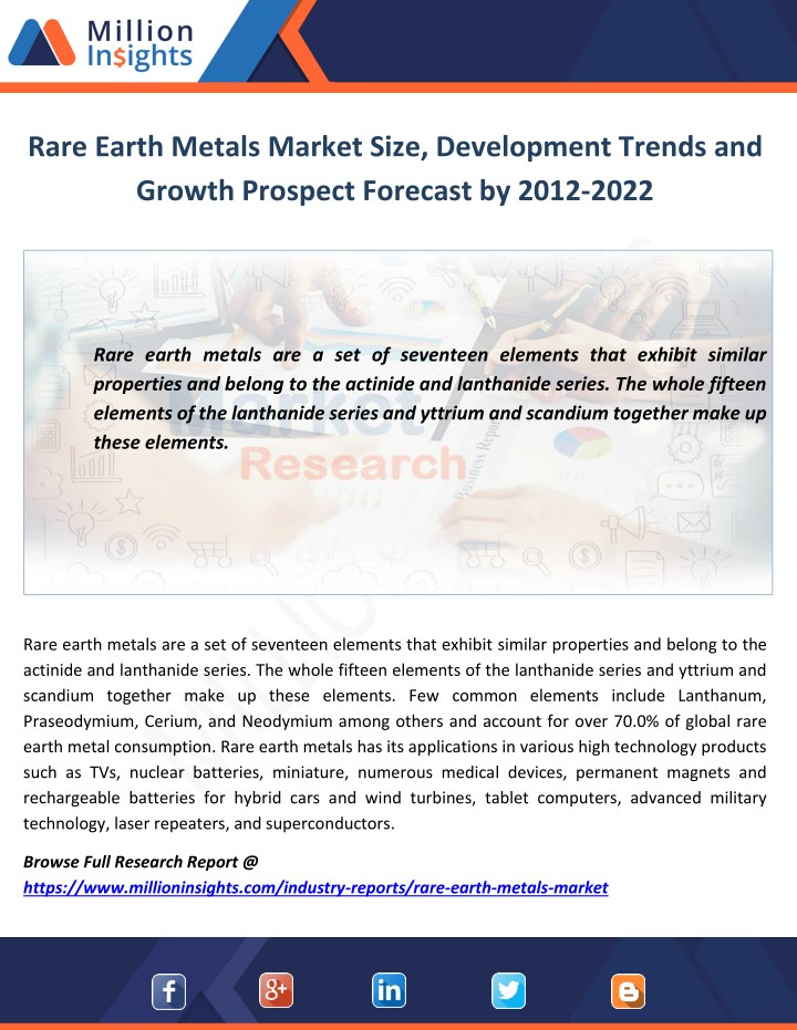 rare earth metals market size development trends n.