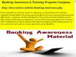 banking awareness training program company http