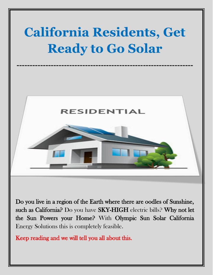 california residents get ready to go solar n.