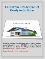 california residents get ready to go solar