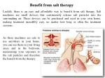 benefit from salt therapy