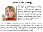 what is salt therapy