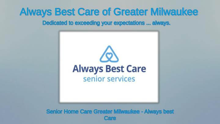 always best care of greater milwaukee n.
