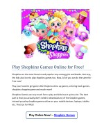 play shopkins games online for free