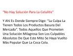 no hay soluci n para la celulitis
