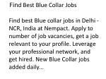 fin d best blue collar jobs find best blue collar