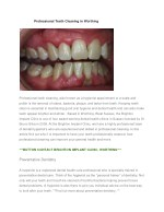 professional teeth cleaning in worthing