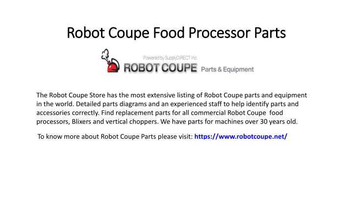 robot coupe food processor parts n.