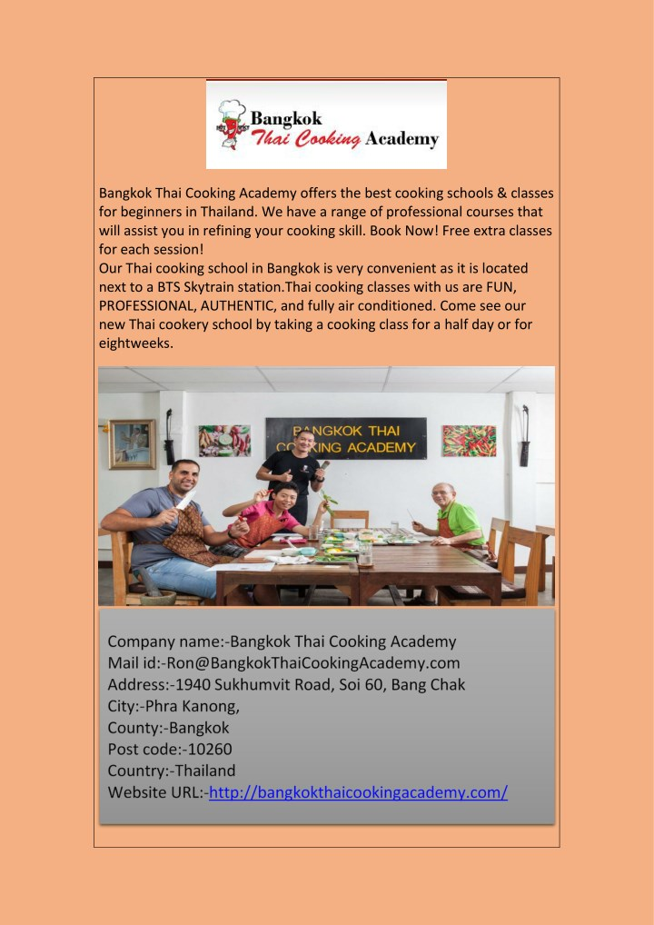 bangkok thai cooking academy offers the best n.