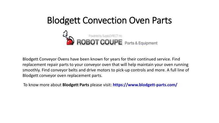 blodgett convection oven parts n.
