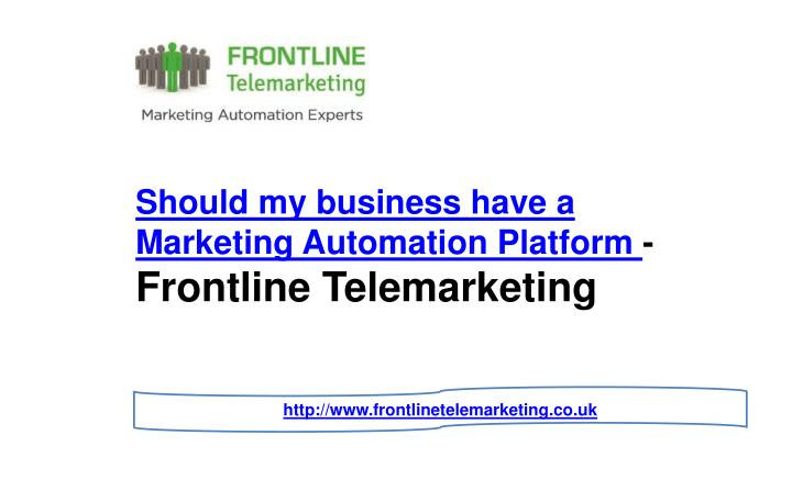 should my business have a marketing automation n.