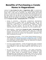 benefits of purchasing a condo home in hagerstown