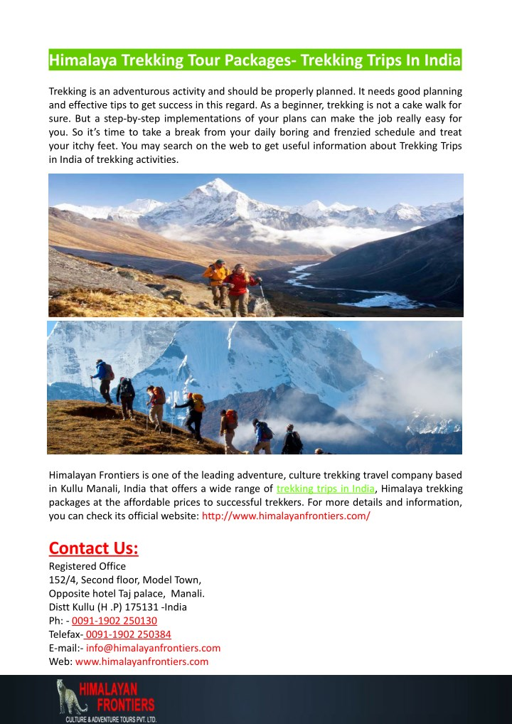 himalaya trekking tour packages trekking trips n.
