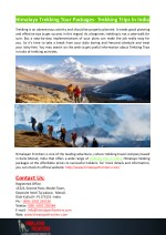 himalaya trekking tour packages trekking trips