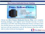 best france dedicated server hosting