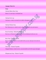 anjappar menu list