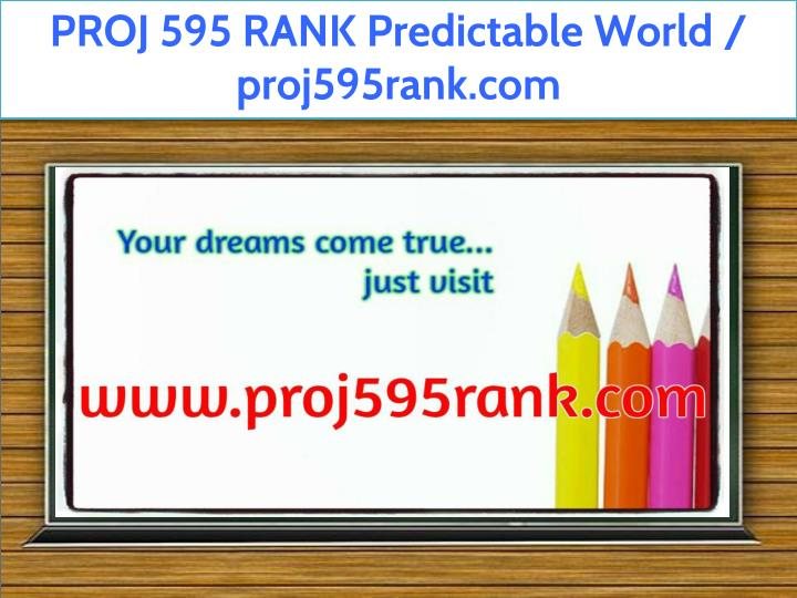 proj 595 rank predictable world proj595rank com n.