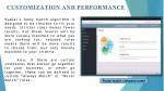 customization and performance