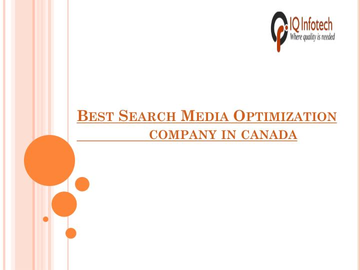 best search media optimization company in canada n.