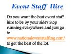 event staff hire 1
