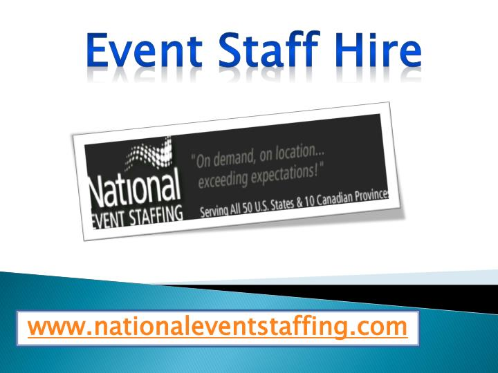 event staff hire n.