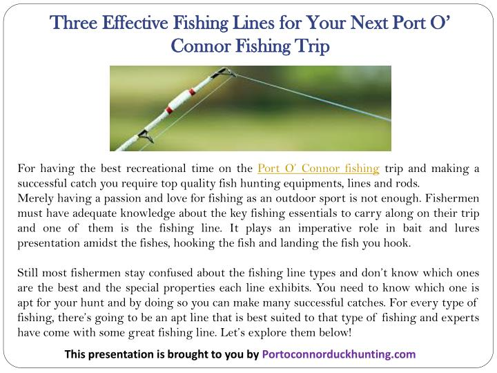 three effective fishing lines for your next port n.