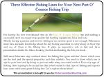 three effective fishing lines for your next port