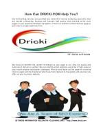 how can dricki com help you