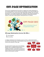 off off page page optimization optimization