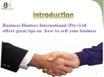 business hunters international pty ltd offers