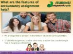 what are the features of accountancy assignment help