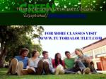 what is the cultural environment become exceptional tutorialoutletdotcom 2