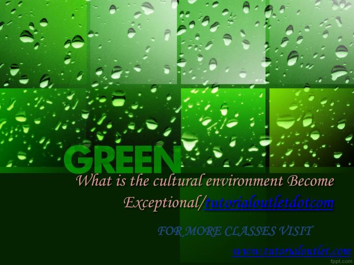 what is the cultural environment become exceptional tutorialoutletdotcom n.