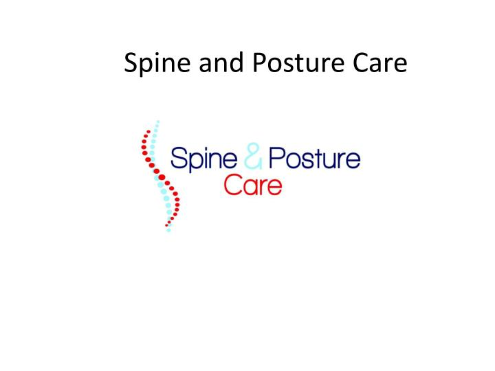 spine and posture care n.