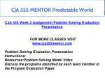 cja 355 mentor predictable world 3