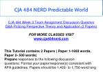 cja 484 nerd predictable world 10