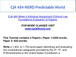 cja 484 nerd predictable world 13
